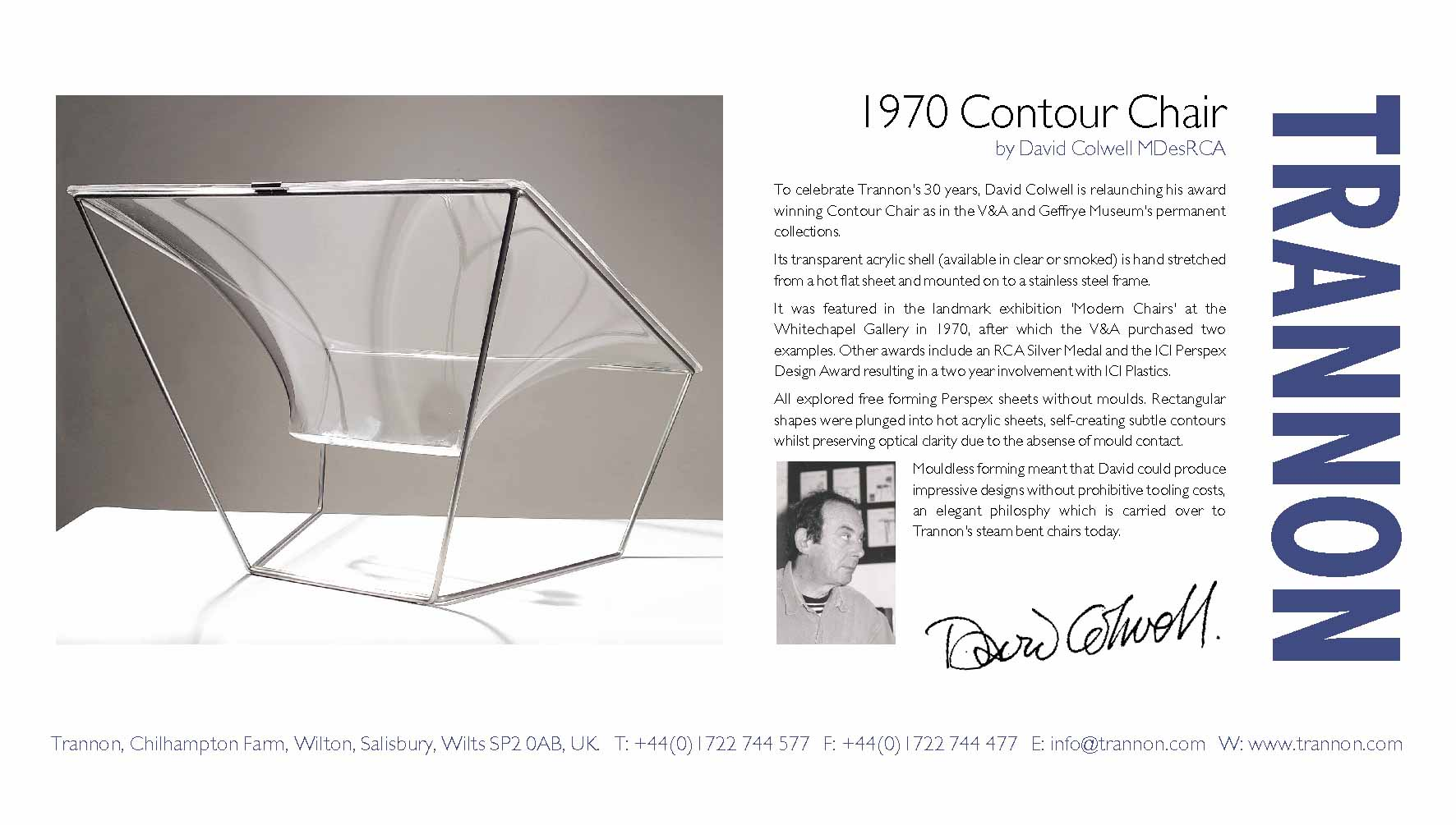 770w X 700d X 610h Mm Perspex Chair